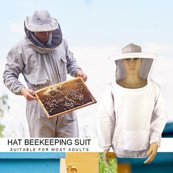 Elastyczna odzież ochronna pszczelarska praktyczne narzędzia pszczelarskie kurtka pszczelarska bluzy ochronne z czapkami tanie i dobre opinie CN (pochodzenie) POLIESTER