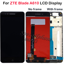 กรอบสำหรับ ZTE ใบมีด A610 จอแสดงผล LCD หน้าจอสัมผัส HD Digitizer ASSEMBLY สำหรับ ZTE Blade A610/A241 รุ่น 318 จอ LCD