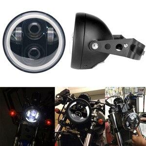 Image 2 - Универсальный светодиодный головной фонарь для автомобиля и мотоцикла, 5, 3/4 дюйма, 5,75 дюйма, H4, фара головного света для мотоцикла, фара головного света для Harley indian scout Honda