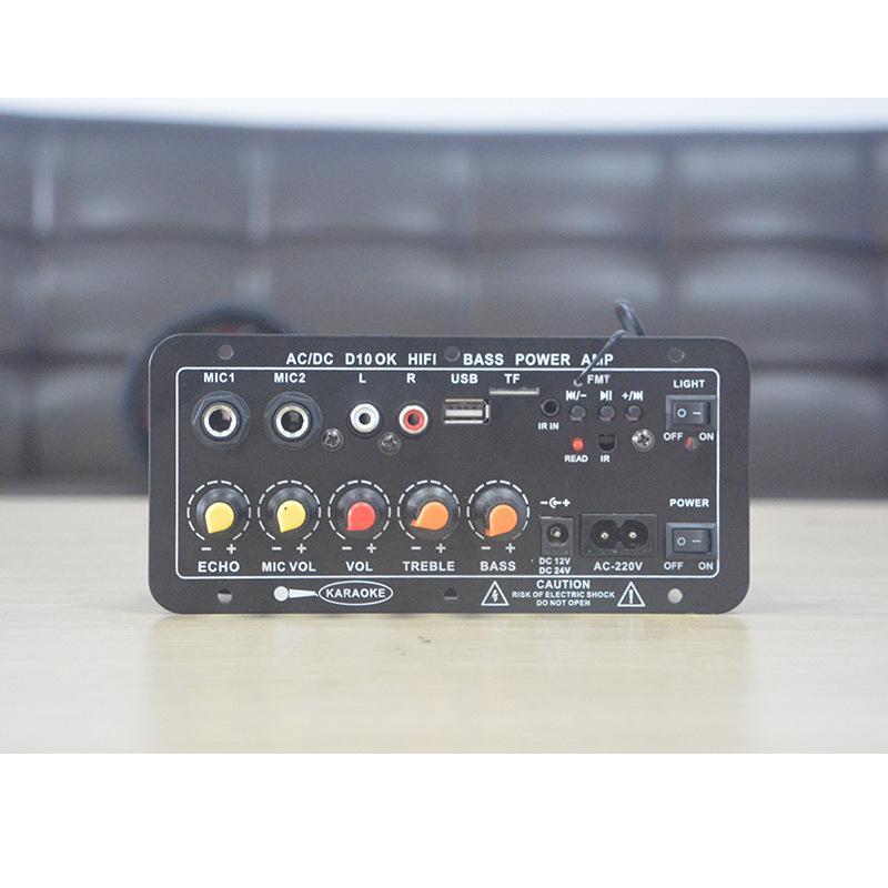400W HIFI Bluetooth Power Amplifier Car/Home Theater Digital Power Audio Amplificador For Speaker Treble Bass Control FM USB SD
