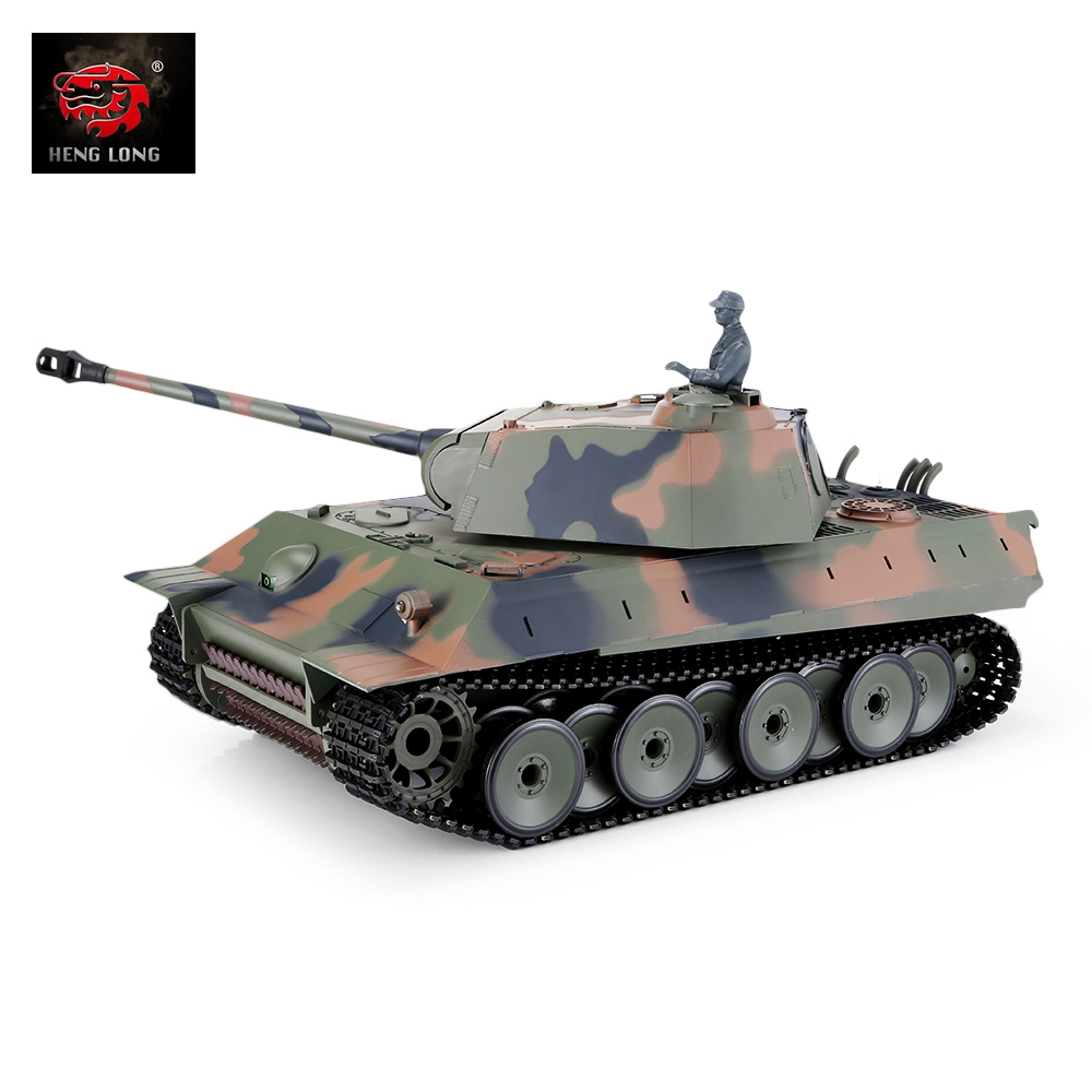<font><b>Henglong</b></font> 1:16 Remote Control Main Battle <font><b>Tank</b></font> obstacle avoidance <font><b>RC</b></font> Trucks Toy Kid Outdoor Gift with Sound and LED Light Effects image