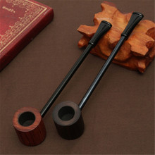 Long Briar Pipe Multi Choice Straight Smoking Tobacco Pipe Best Briar Wood Pipe 3mm Filter Smoking Pipe Set(China)