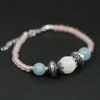 Acecare 925 Silver ornaments Wholesale Handle Beads Happiness Bail Breakfast Light Straw Chain Hair Handwritten