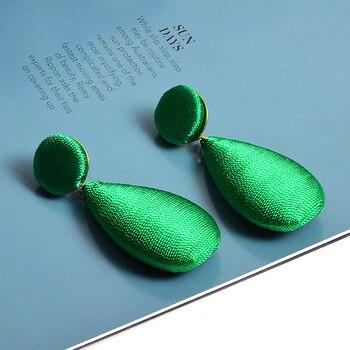 Satin Statement Handmade Drop Earrings  3