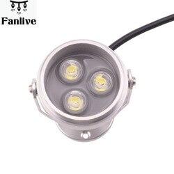 10 sztuk podwodna lampa LED do oświetlenia stawu IP68 wodoodporna ciepła biała zimna biel 3W DC 12V AC 220V 110V w Światła podwodne od Lampy i oświetlenie na