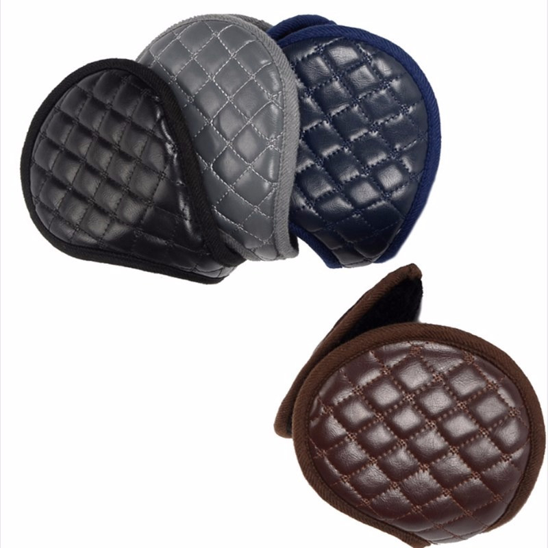 1pc Mens Winter Casual Warm Ear Muffs Earflaps Leather Mens Ear Muffs Leather Earmuffs Ear Mens Warmer Cover Wrap Band Hot Sale