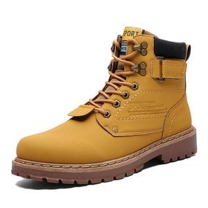Yellow Cat Boots Men Winter Wa