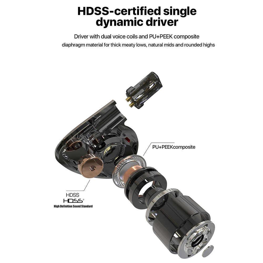 Hiby II Biji Kinerja Tinggi Hi Fi Stereo Earbud Earphone In-Ear Monitor Single Driver Dinamis Resolusi Tinggi Hdss