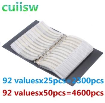 0805 SMD Capacitor Sample Book 92valuesX50pcs=4600pcs 0.5PF~10UF Capacitor Assortment Kit Pack 6