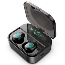 Auriculares TWS inalámbricos, Mini auriculares impermeables con batería de 2200mAh para todos los teléfonos