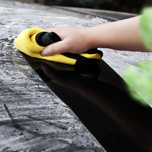Image 4 - 40x80CM 600GSM Microfiber Towel Car Wash Cloth Auto Cleaning Door Window Care Thick Strong Water Absorption Rags For Car Home