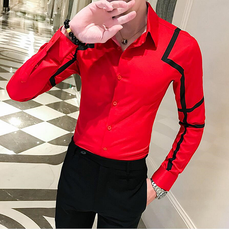 Luxury New Men/'s Casual Business Slim Fit Stylish Long Sleeve Dress Shirts