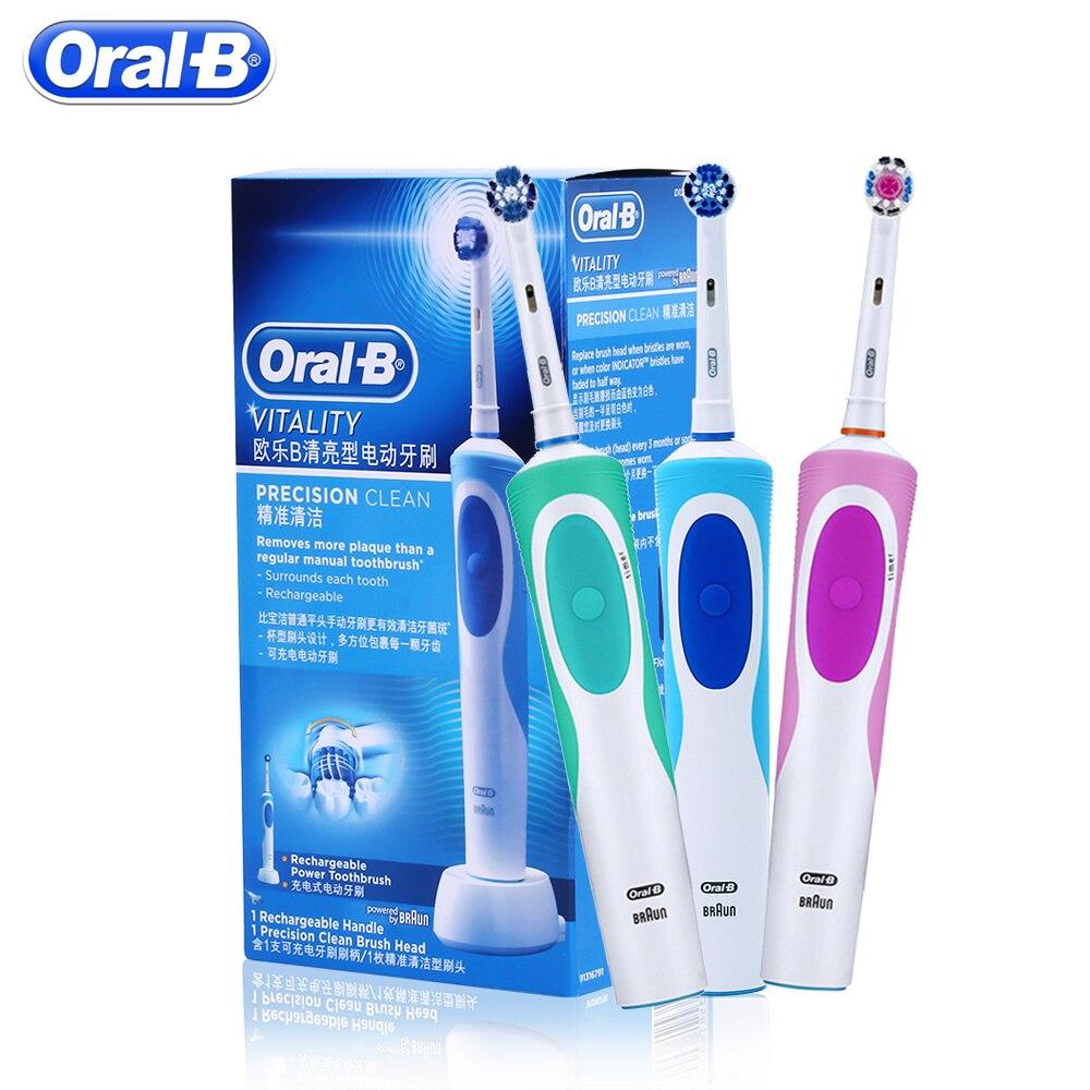 Oral b sonic escova de dentes elétrica rotativa vitalidade d12013 recarregável escova de dentes higiene oral escova de dentes 1 cabeças de escova de dentes