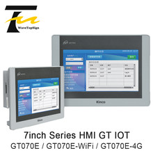 Kinco hmi gt série iot verde série hmi gt070e GT070E-WiFi GT070E-4G 7 polegada suporte ethernet função embutido 4g & wifi
