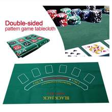 24 ''X 47'' Dua Sisi Blackjack Roulette Casino Poker Table Top Merasa Kain Cover Mat Meja Permainan penutup Atas Bundar(China)