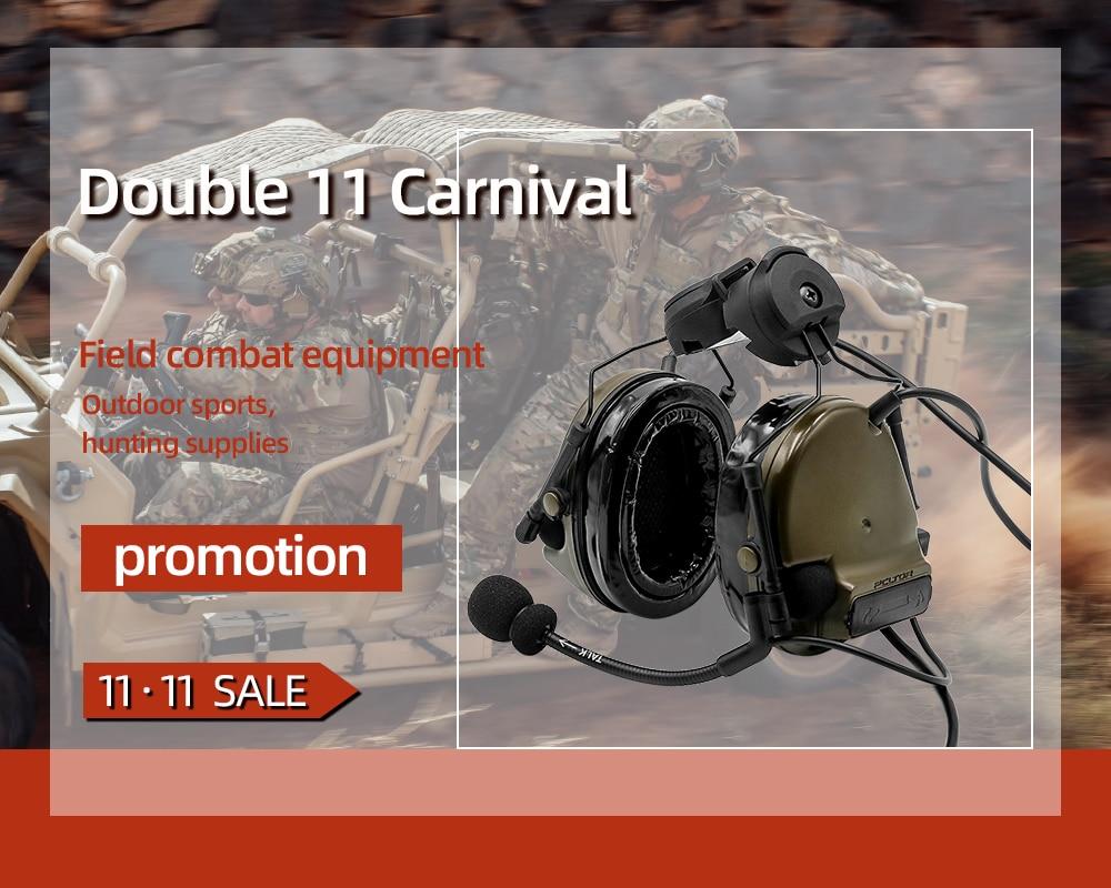 COMTAC III TAC-SKY  Comtac Iii Helmet Fast Track Bracket Version Silicone Earmuffs Noise Reduction Pickup Tactical Headset FG