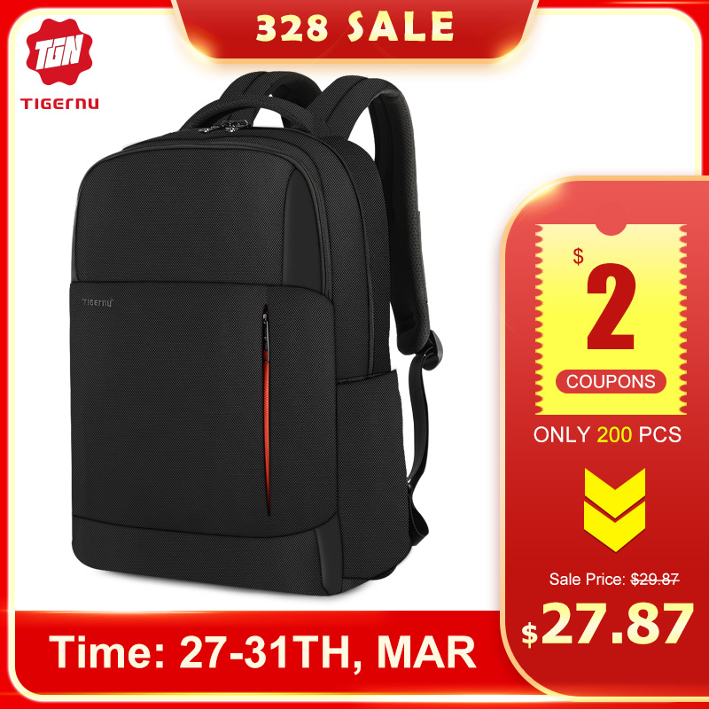 2020 Tigernu New Fashion RFID Anti Theft Men 15.6 Inch Laptop Backpack USB Charging Male Female Waterproof School Bags Mochilas