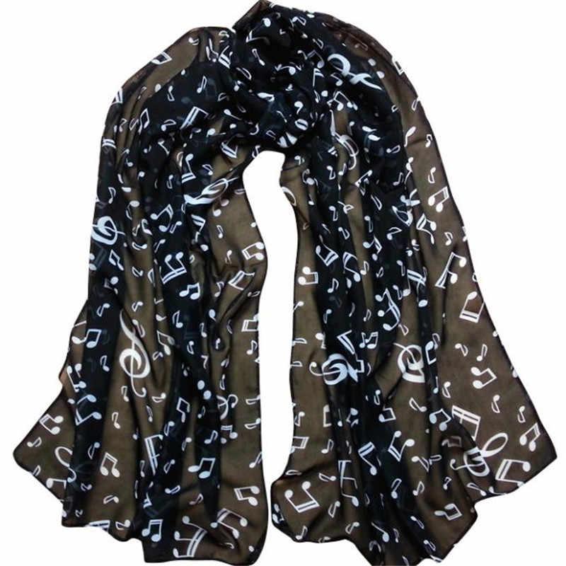Sleeper # P501 2019 nowy kobiety moda Lady Musical uwaga szyfonowa szalik szale szalik Wrap Schal zima Cachecol hot