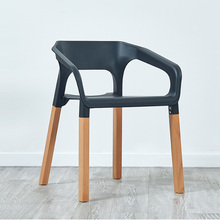 Modern solid wood plastic armchair restaurant for dining chair restaurant cafe home living room study solid wood dining chair