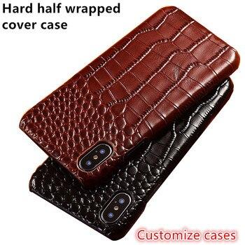 Business Half wrapped case genuine leather back cover for Nokia 7 Plus/Nokia 7/Nokia 7.1/Nokia 7.2 case Ultra Slim Phone Cover