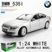 WELLY 1:24 BMW 535i grey  car alloy car model simulation car decoration collection gift toy Die casting model boy toy все цены