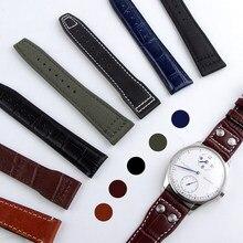 Fermoirs pliants en toile de Nylon, 20mm, 21mm, 22mm, pour montre IWC, PILOT Mark PORTOFINO, accessoires de montre