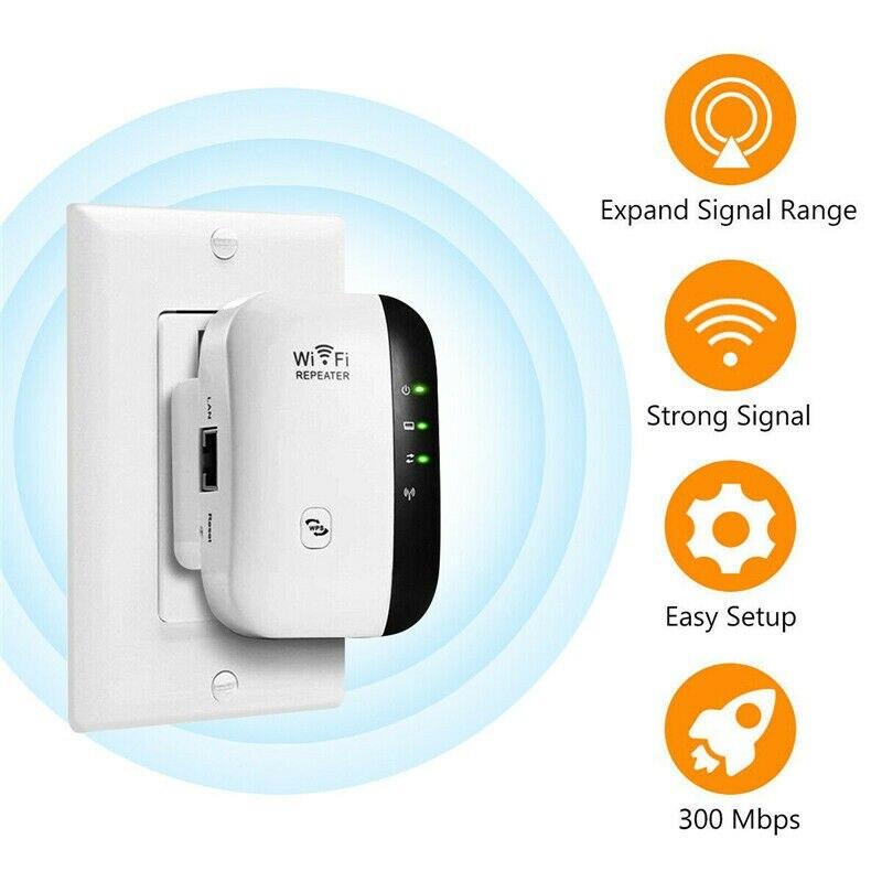 Drahtlose Wifi Repeater 300Mbps Netzwerk Wifi Long Range Extender Signal Verstärker Internet Antenne Signal Booster Access Point