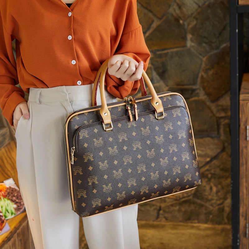 Maleta Notebook Mulher trabalho de escritório College University bolsa de mão ombro Case W
