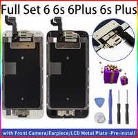 Vollversammlung LCD Ecran Für iPhone 6 6 Plus 6s 6s Plus Display Ersatz 3D Touchscreen Digitizer mit Front Kamera + Ohrhörer