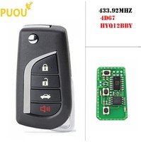 3+1 4 Buttons Remote Car Key Fob For Toyota Camry Avalon Corolla Matrix RAV4 HYQ12BBY 314.4Mhz Transponder 4D67 Chip