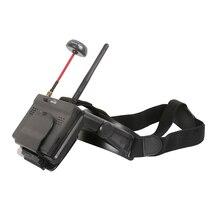 Hawkeye pouco piloto ar tudo em um 5 polegada 800x480 fpv monitor 5.8g 48ch duplo receptor dobrável óculos de proteção com dvr para rc zangão