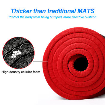 10 mm Extra Thick Non slip Yoga Mat Natural Rubber NBR Fitness Sports Gym Pilates