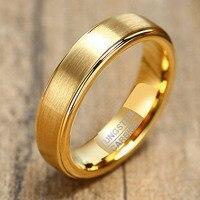 Letepi-Anillo de boda de tungsteno para hombre, joyería de compromiso de 5mm, Punk, Color dorado y negro, nueva moda, venta al por mayor, 2021