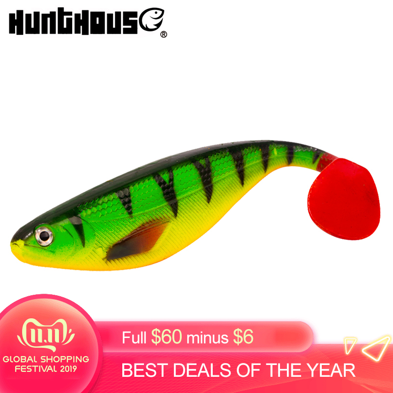 Hunthouse shadteez <font><b>soft</b></font> trout lure artificial <font><b>bait</b></font> <font><b>big</b></font> shads <font><b>soft</b></font> 170mm 35g PVC material for sea bass perch zander image
