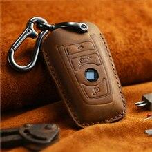 Авто-Стайлинг, чехол для ключей из натуральной кожи, чехол для Bmw, Новинка 1, 3, 4, 5, 6, 7, серия F10, F20, F30, смарт, 3 кнопки, аксессуары