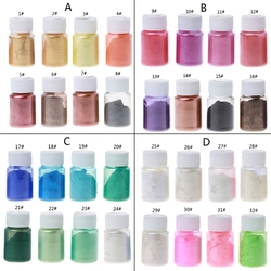 8 Colors 10g Resin Colorant Powder Mica Pearlescent Pigments Kit Resin Dye Epoxy Resin DIY Color Toning Jewelry Making