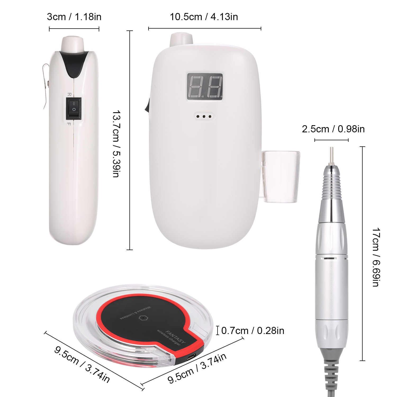 Kuku Bor Mesin Kit Listrik Nail Polisher Set Cordless Portable Nirkabel Pengisian Manikur Set Nail Kecantikan