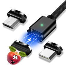 Magnetic Micro USB Cable For iPhone Samsung Type-C Fast Charging Magnet
