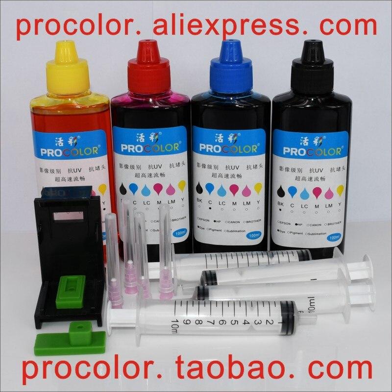 804 s чернила на основе красителя для СНПЧ refill kit для HP Envy Photo 6234 K7S21B 7822 Y0G42D 7820 Y0G49B 7830 Y0G50B 7832 Y0G52B 6222 Y0K13D принтер