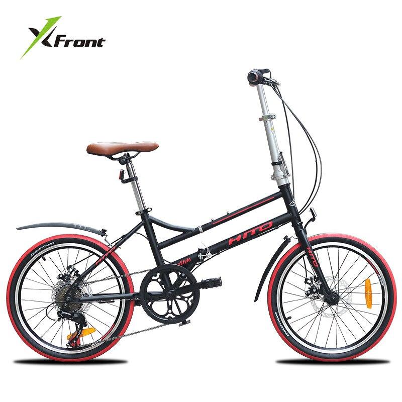 New Brand Dual Tube Carbon Steel Frame 20 Inch Wheel Disc Brake Folding Bicycle Outdoor Sports BMX Bicicleta