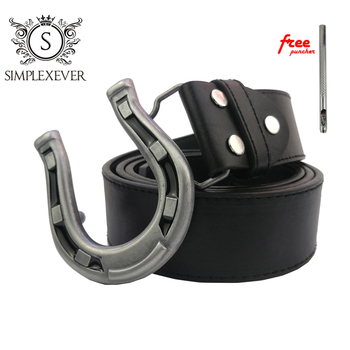 Silver Horseshoe U Shape Belt Buckle for Men Metal Belt Buckle with Leather Belt Jeans Accessories Drop Shipping цена 2017