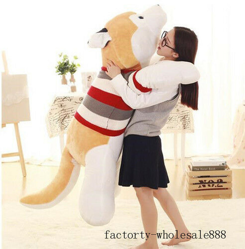 husky-shar-pei-dog-siberian-plush-toy-170cm-stuffed-animal-doll-pillow-bebe-gift