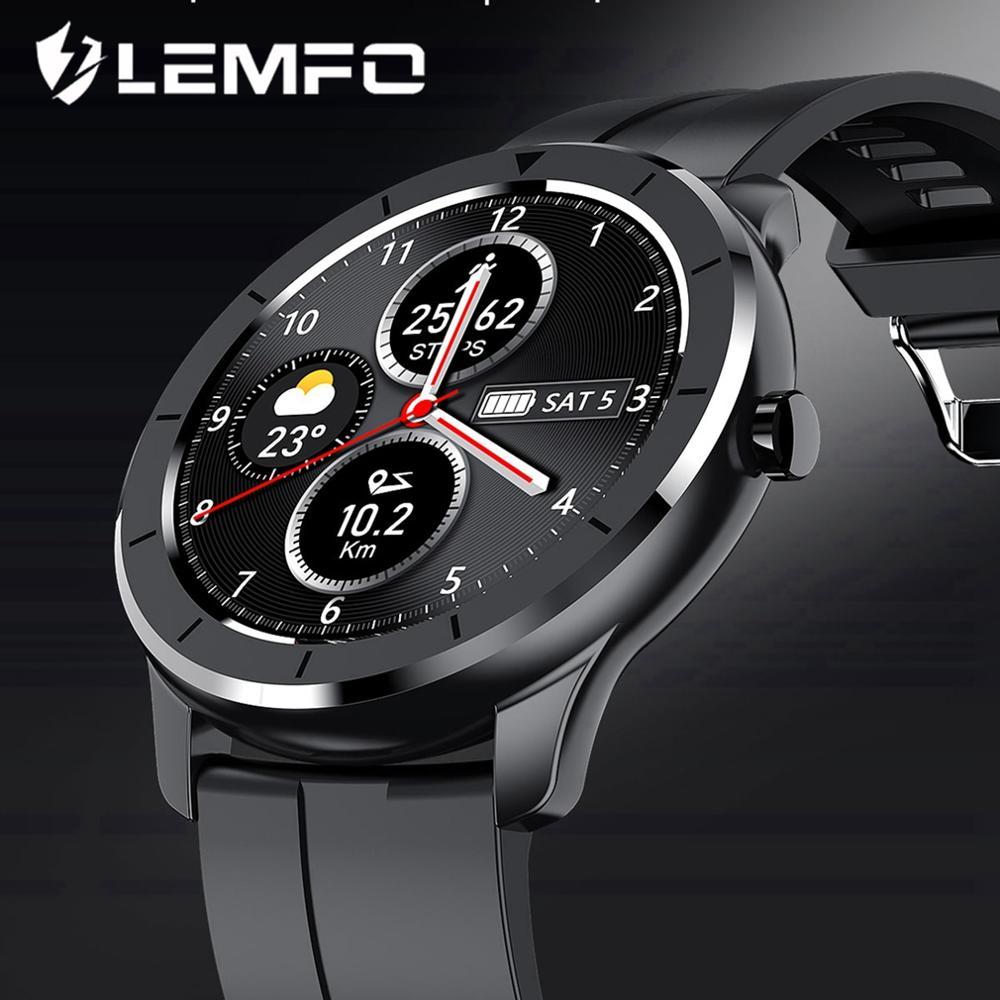 LEMFO Sport Smart Watch IP68 Waterproof Full Touch Heart Rate Blood Oxygen Monitor Multi Sport mode Custom Dial Smart Watch Men