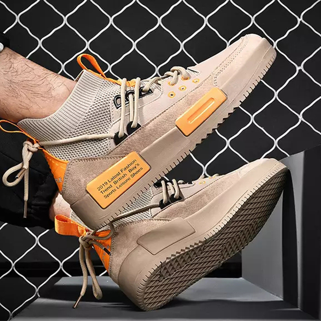Men Mesh Shoes Rubber Bottom  Wear-Resistant Sneakers 5