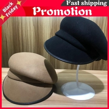 202009-Yy New Winter Wool Solid Fold Leisure Lady Octagonal Hat Men Women Visors Cap