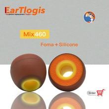 EarTlogis Mix460 oreillettes de remplacement pour Sony MDR XB55AP XB75AP EX650AP/ Jaybird Freedom 2, X4 X3 X2, bluebud X, F2, F5 embouts