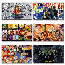 Japanese Anime One Piece Canvas Painting Luffy Cartoon Posters Prints Wall Art Pictures for Living Room Home Wall Decor Cuadros