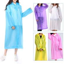 Men Women Waterproof Jacket Button Hooded Raincoat Suit Poncho Rainwear disposable rain ponchos suit