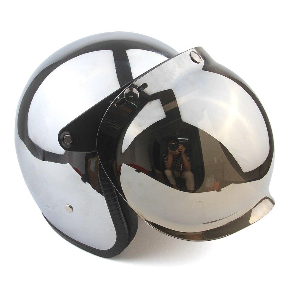 Moto rcycle kask rocznika moto rcycle kask jet capacetes de moto wyniki srebrne chromowane vespa cascos para moto cafe racer lustro