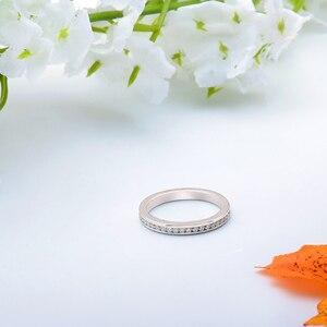 Image 2 - DovEggs özelleştirmek 18K beyaz altın 5ct 9*11mm GH renk yastık nişan yüzüğü kadınlar için düğün hediyesi ışık halkası